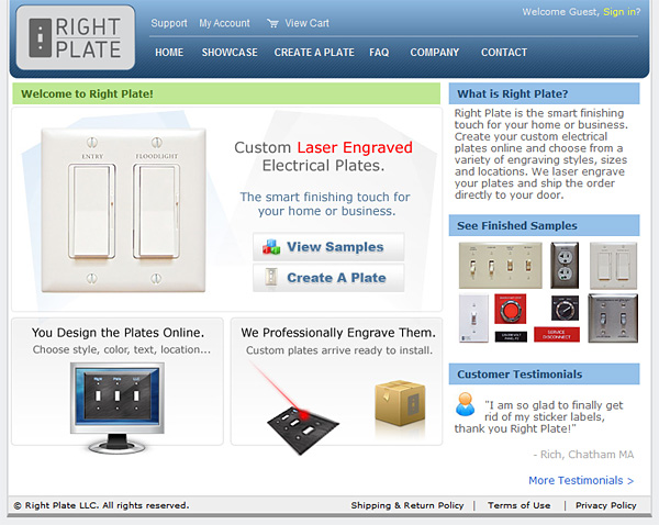 Right Plate Homepage
