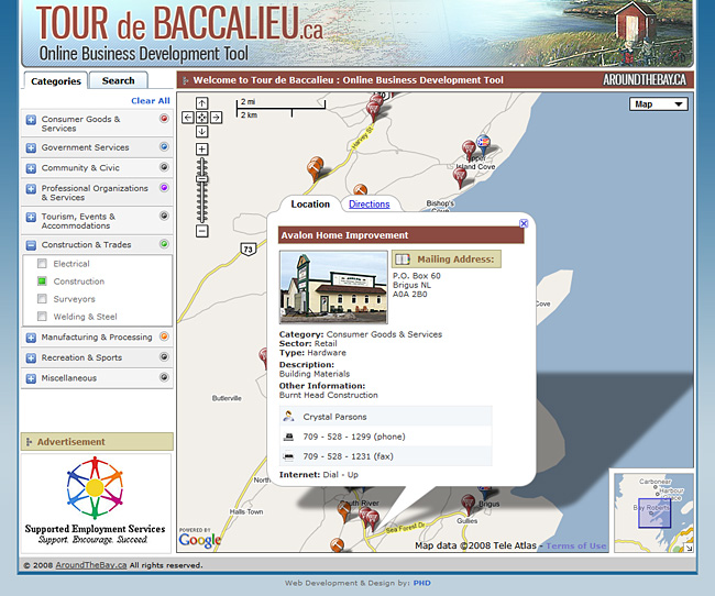 Tour de Baccalieu Map