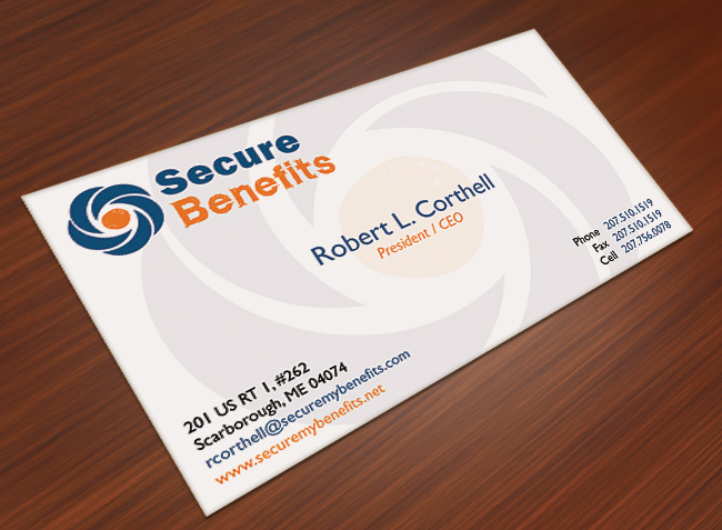 Secure Benefits Business Card Design