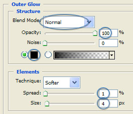 Platinum Outer Glow Settings