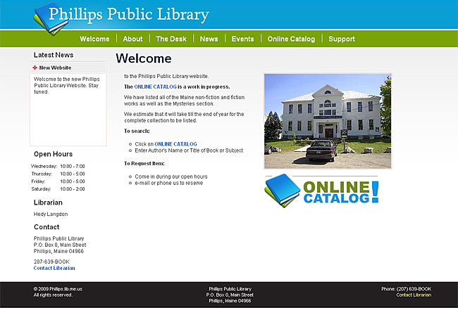 Phillips Public Library Website